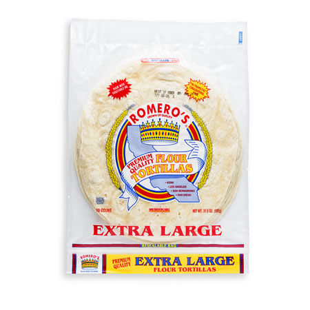 Extra Large Flour Tortillas – ROMERO'S FOOD PRODUCTS